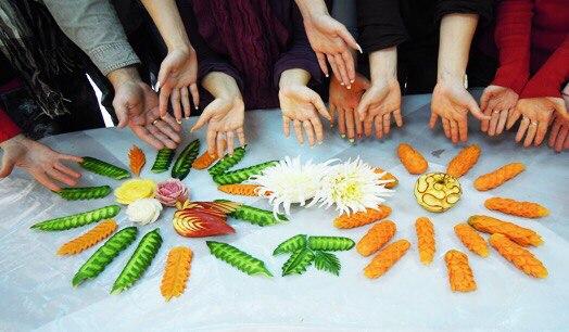 Карвинг из овощей и фруктов мастер класс фото