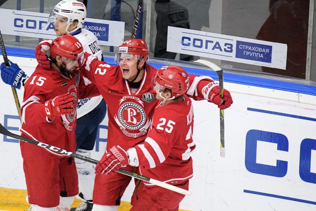 Вчемпионате КХЛ «Витязь» разгромил минское «Динамо»