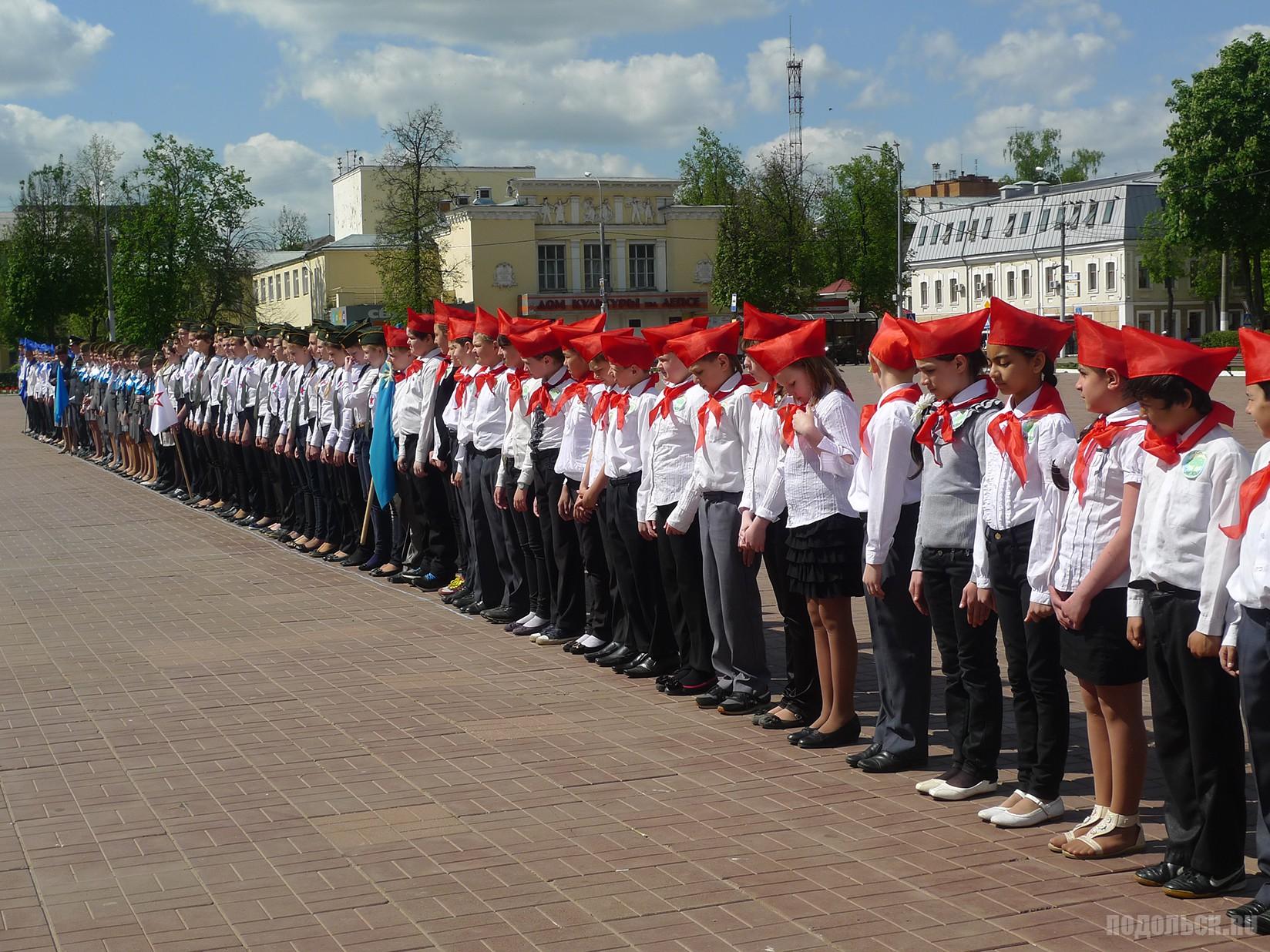 12.05.14 в Подольске прошел городской смотр строя и песни, в котором приняли участие отряды Союза детских организаций города Подольска.