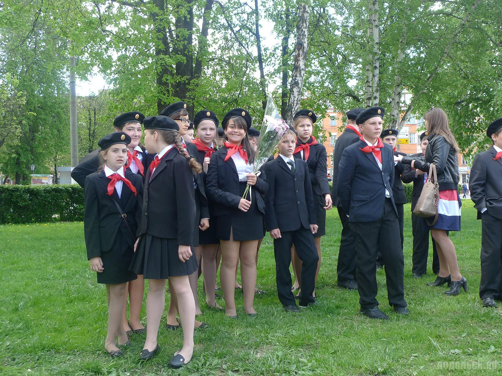 Городской смотр строя и песни отрядов детских организаций Подольска
