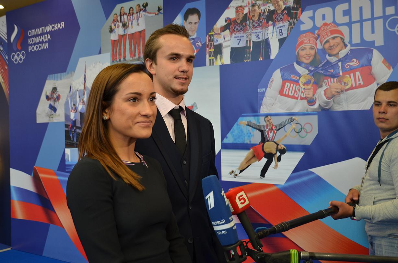 Ксения Столбова и Федор Климов на Олимпийском балу в Кремле. 31.05.2014