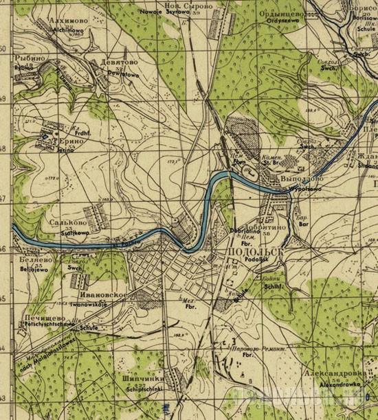 Карта 1940 г.