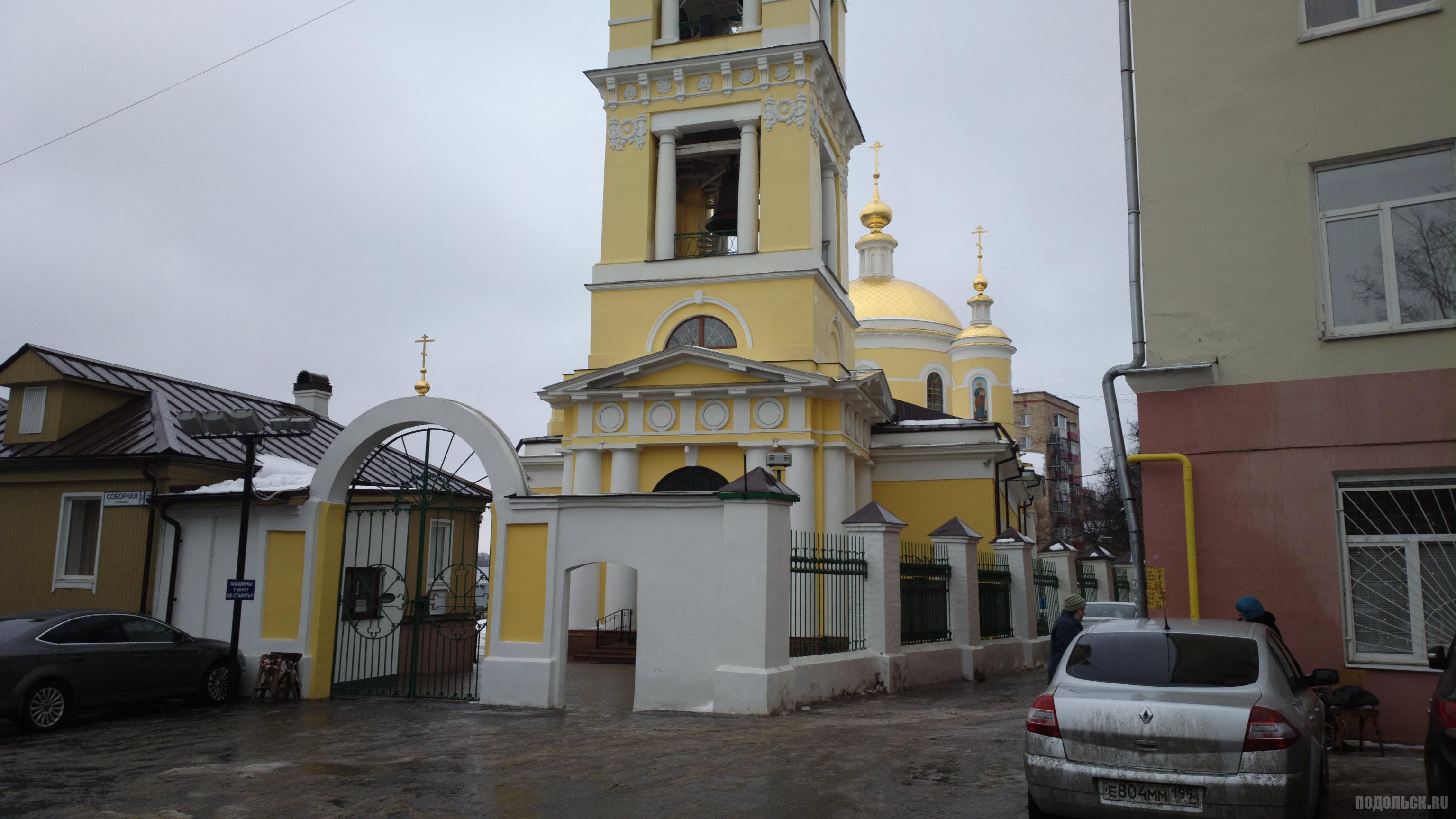 У храма на Соборной площади. Январь 2015 г.