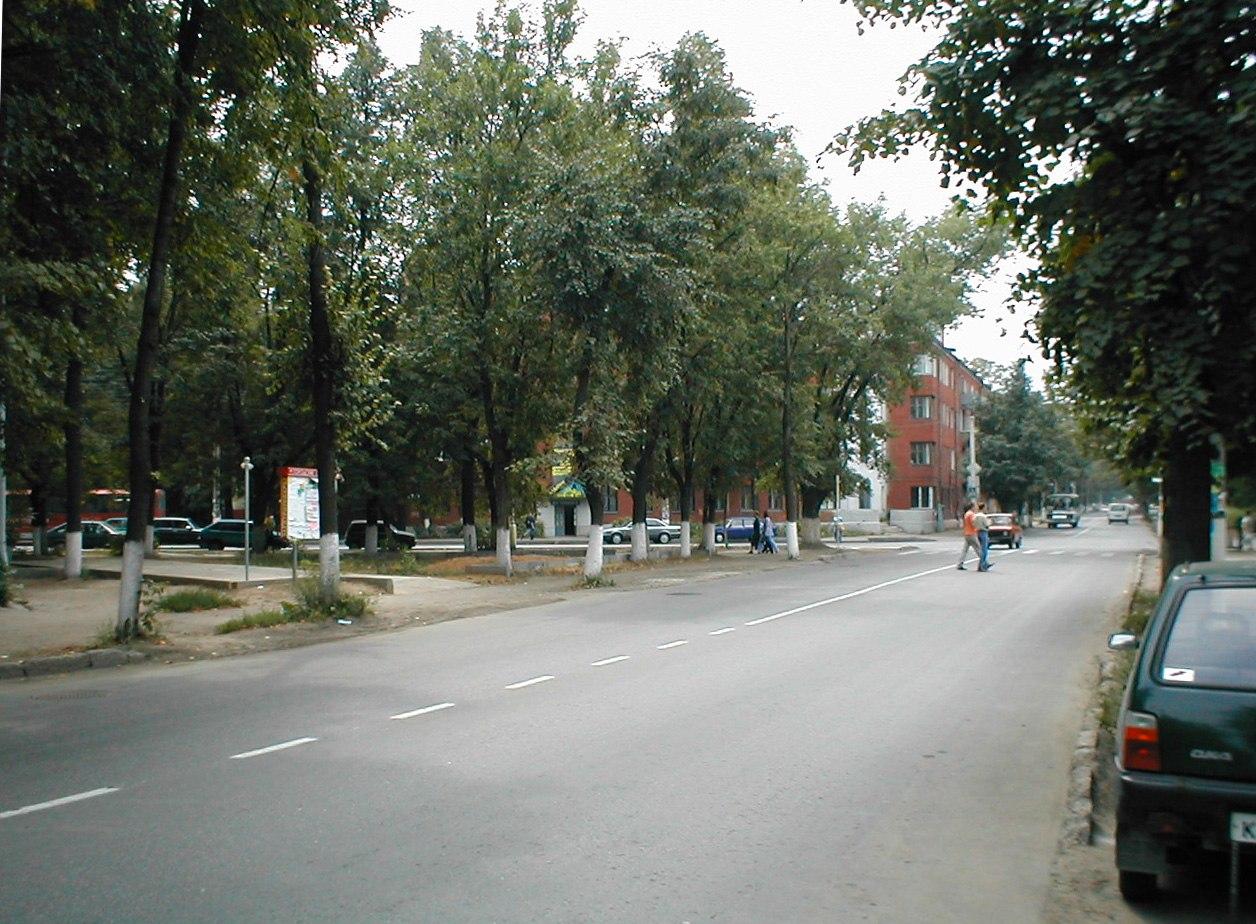 Перекрёсток ул. Рабочей и Ревпроспекта, 2002 год.