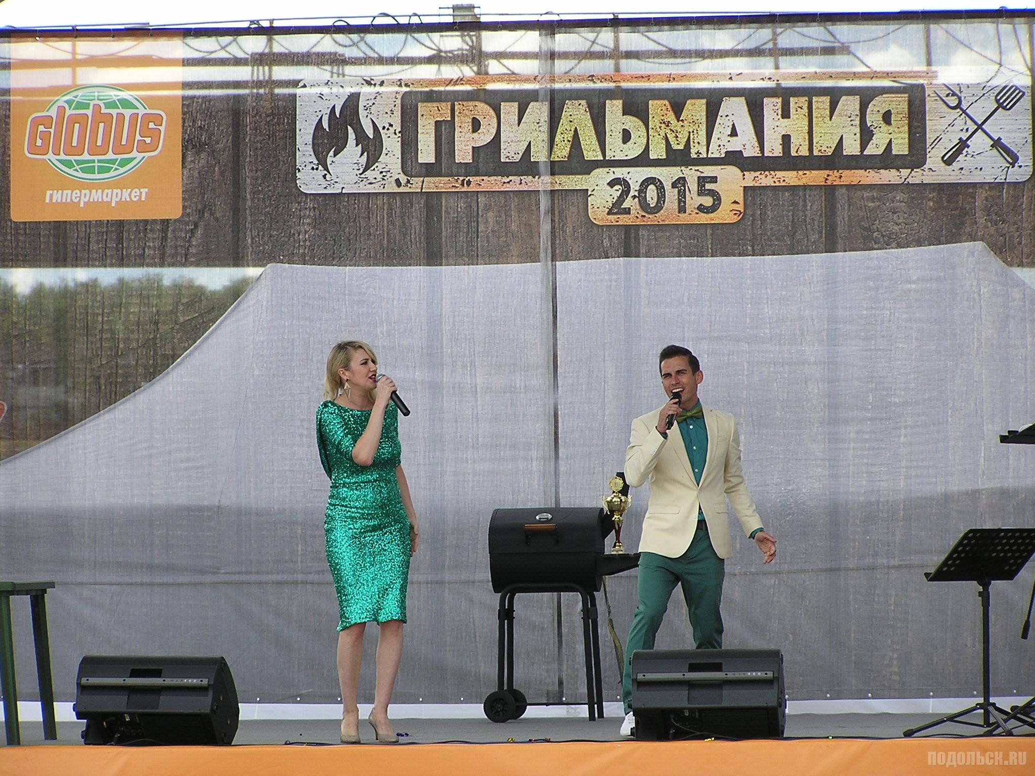 """Грильмания в Климовске, 11 июля 2015 г. Группа """"Кристалл""""."""