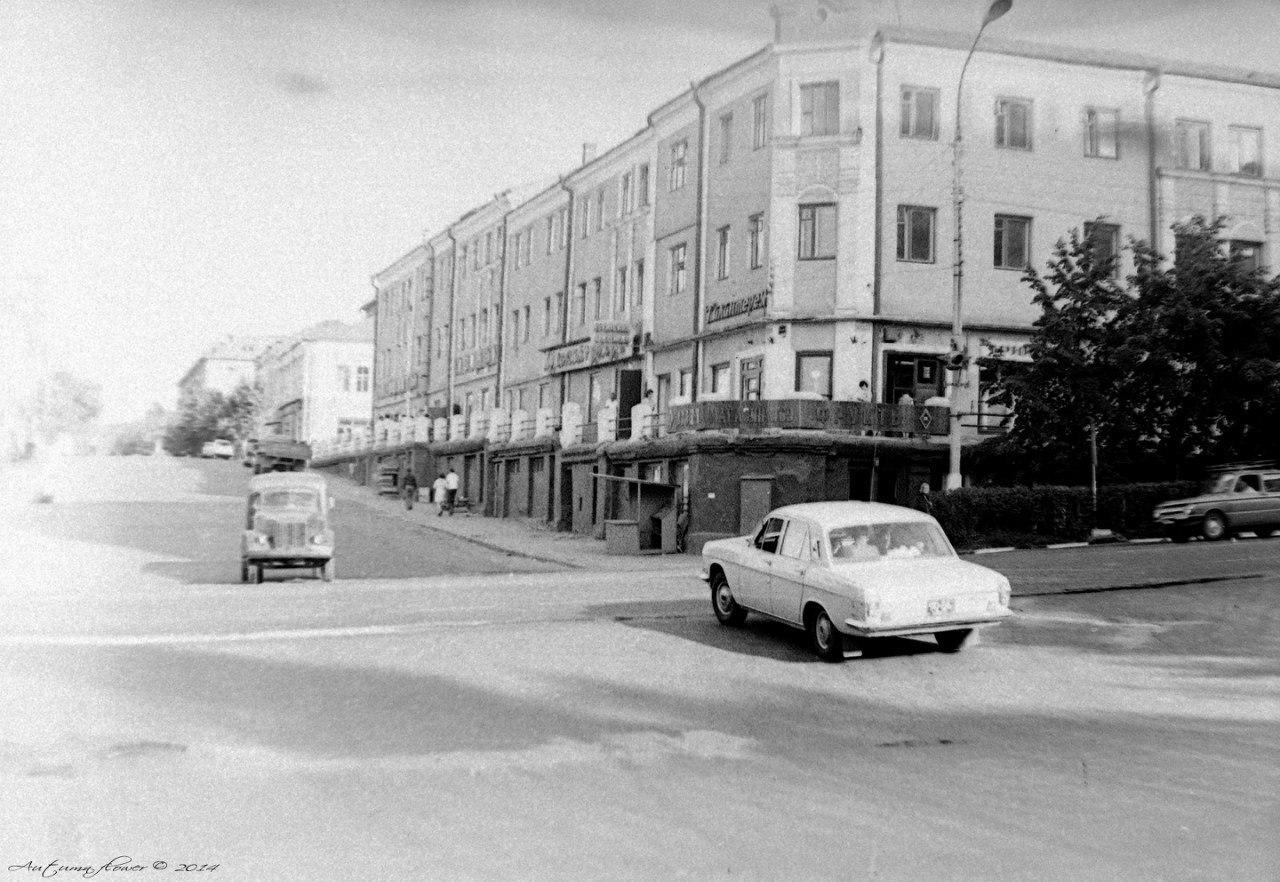 Подольск. Революционный проспект. Вид на Красные ряды, 1975 год.