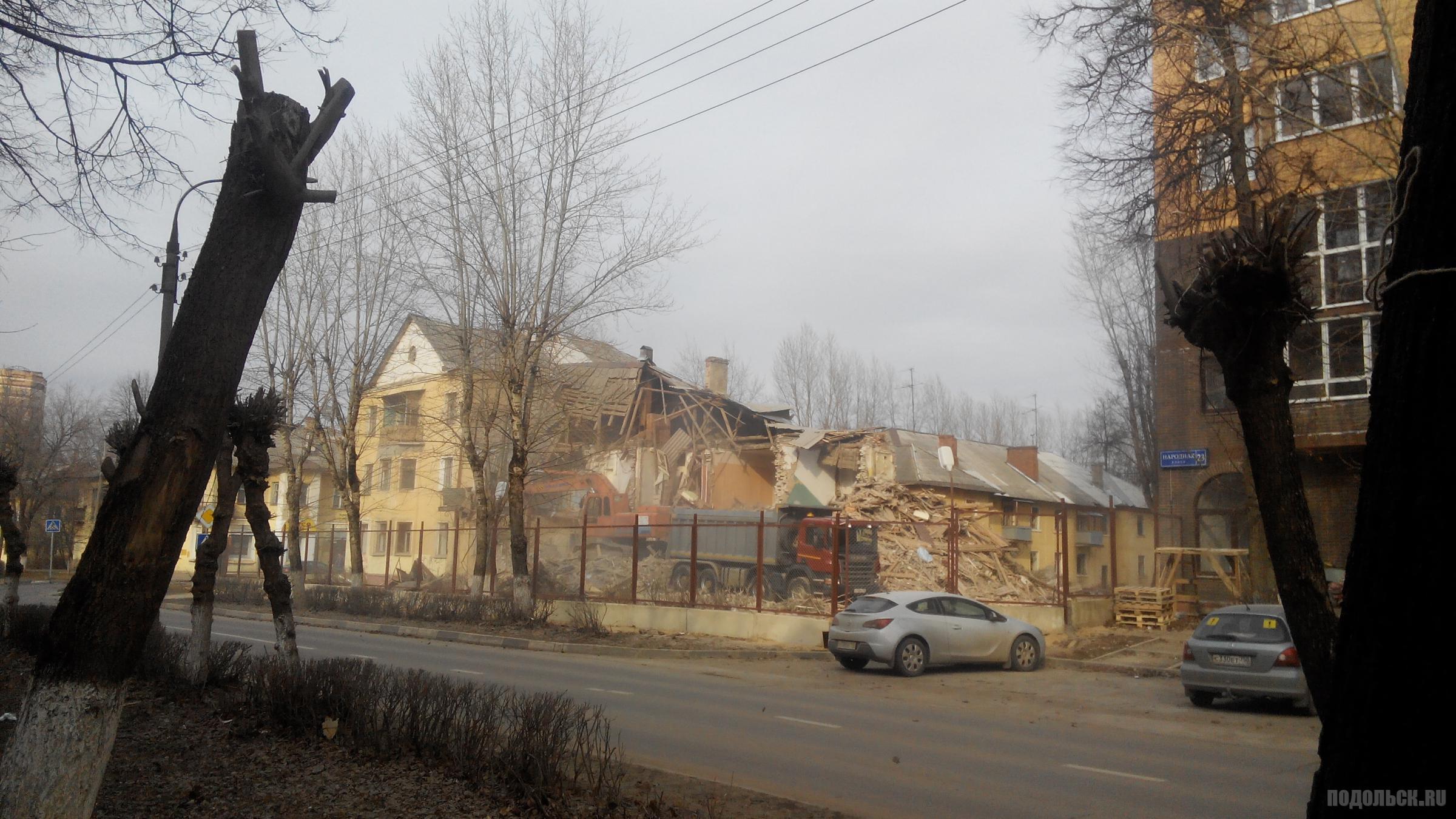 Снос старых домов на Народной. Июнь 2015 г.