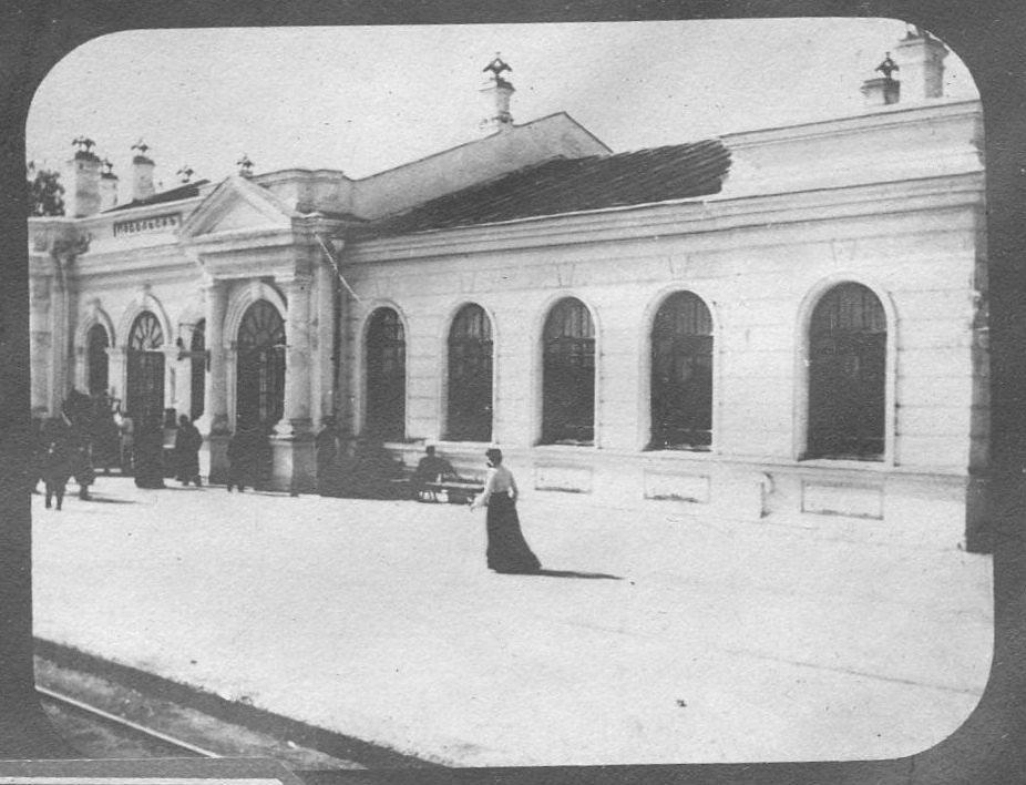 Железнодорожный вокзал Подольска. Фото между 1900-1917 гг.