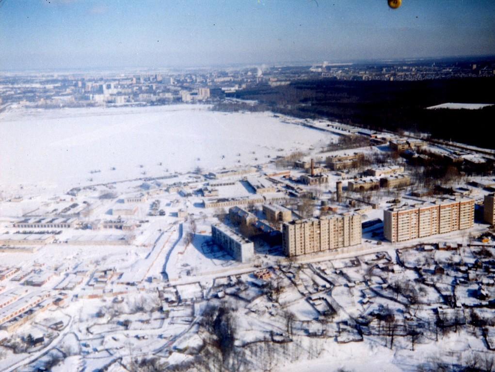 Подольск, вид на аэродром «Кузнечики». 1999 год