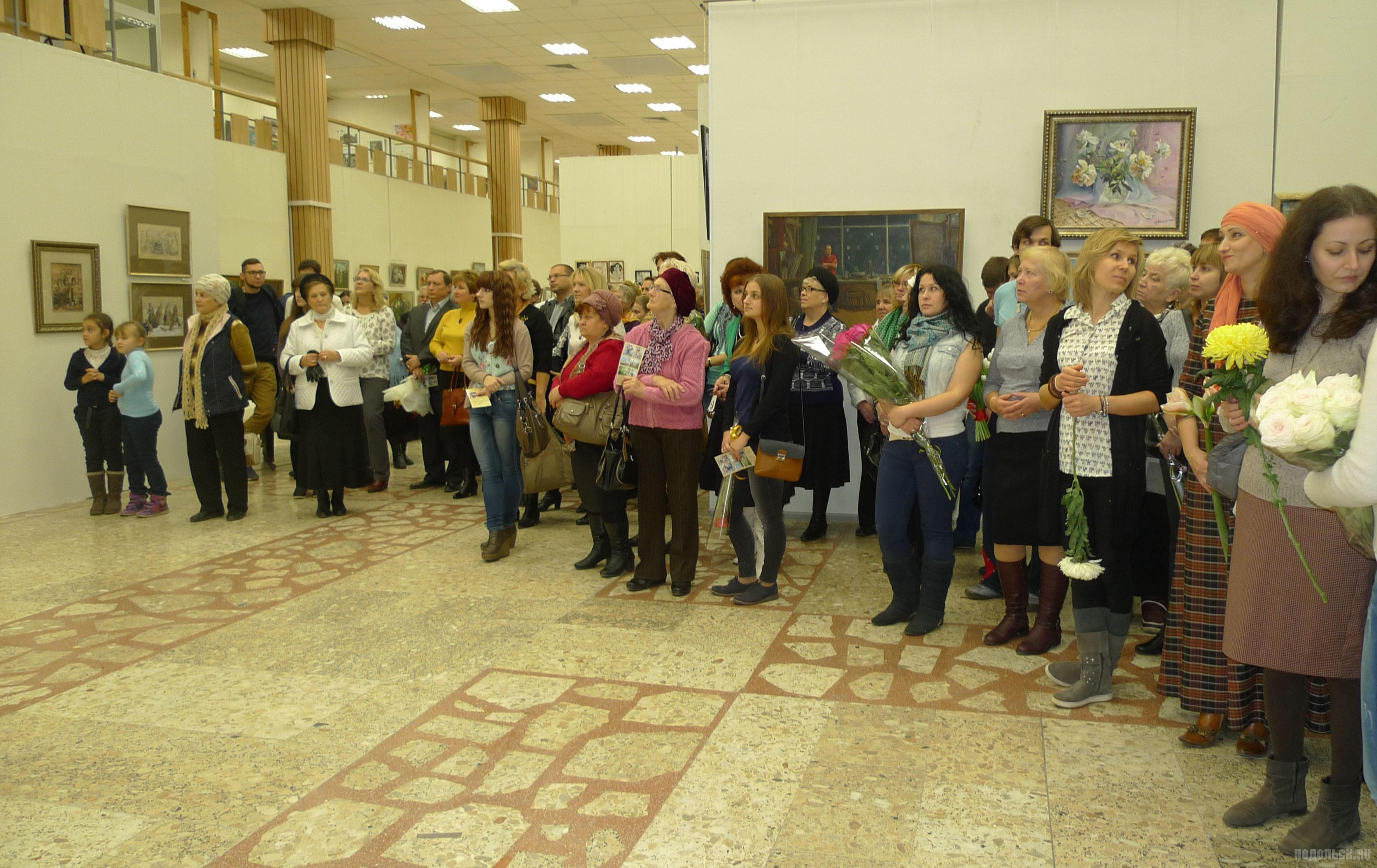 Открытие выставки народной изостудии ДК им. Лепсе. 23 октября.