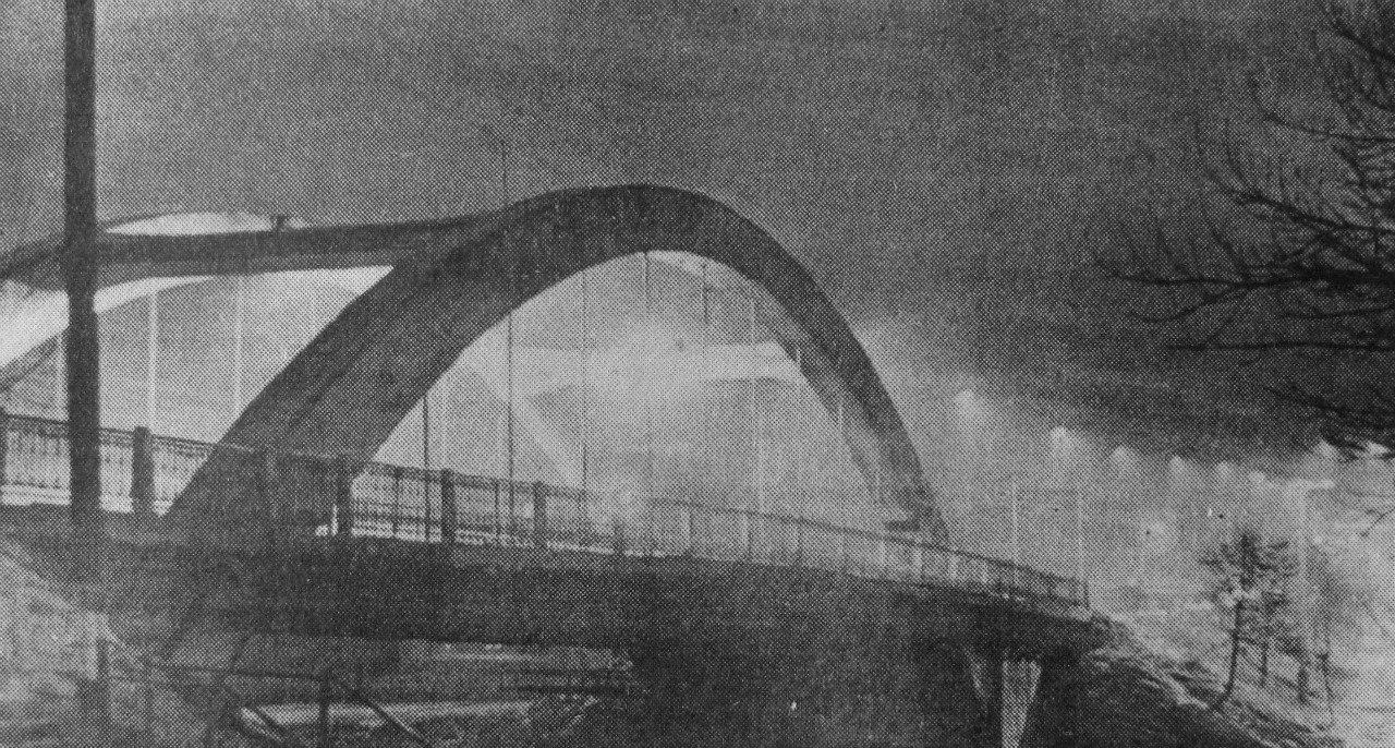 Вечерние огни над Пахрой. 1976 год.