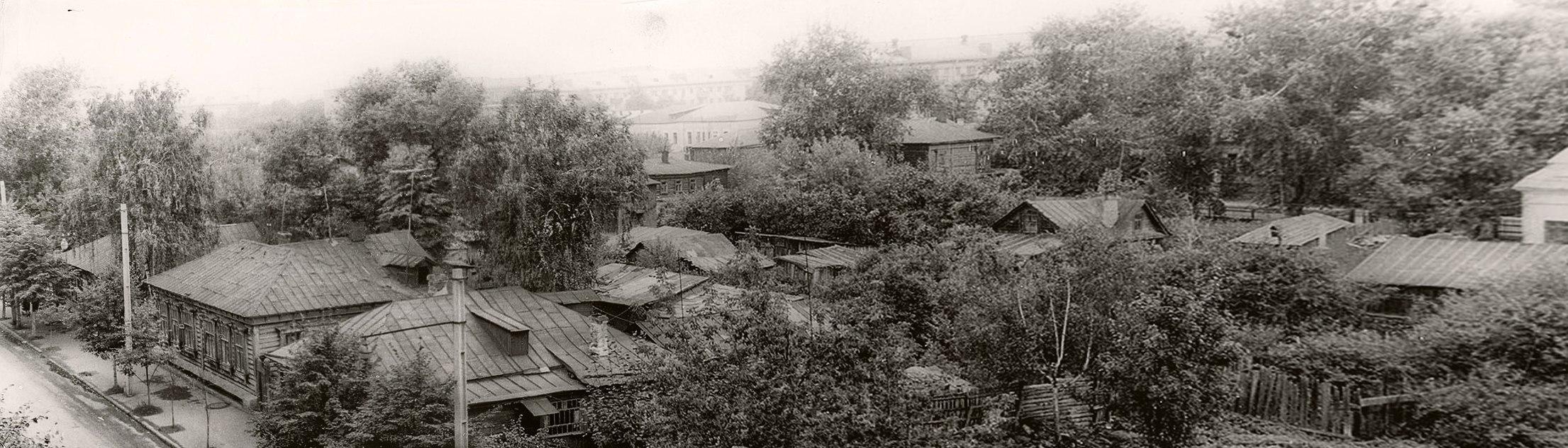 Подольск, ул. Рабочая. Дома на месте будущей площади 50-летия Октября (ныне площадь Славы) 1965-1966 гг.