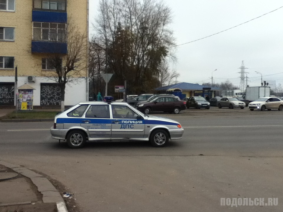 Машина полиции. Климовск. 8 ноября 2015 г.