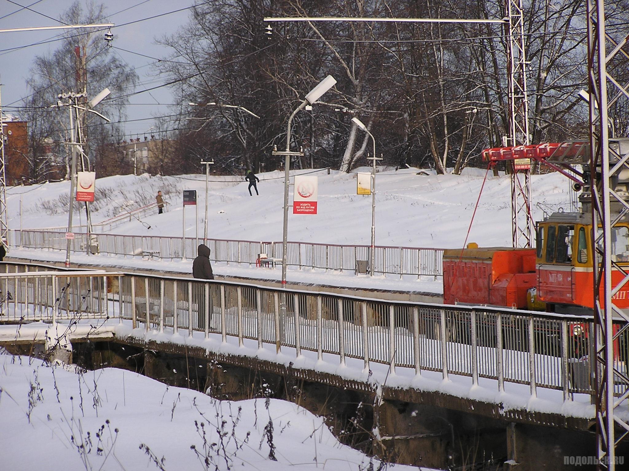 Платформа Весенняя, январь 2016 г.