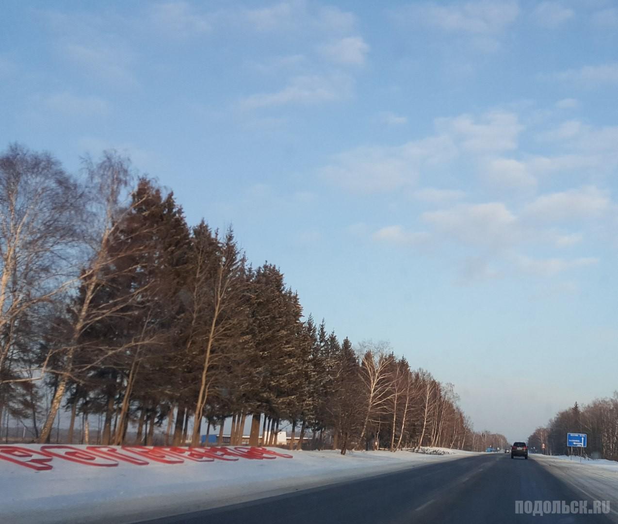 Роговское. Дорога. Январь 2016 г.
