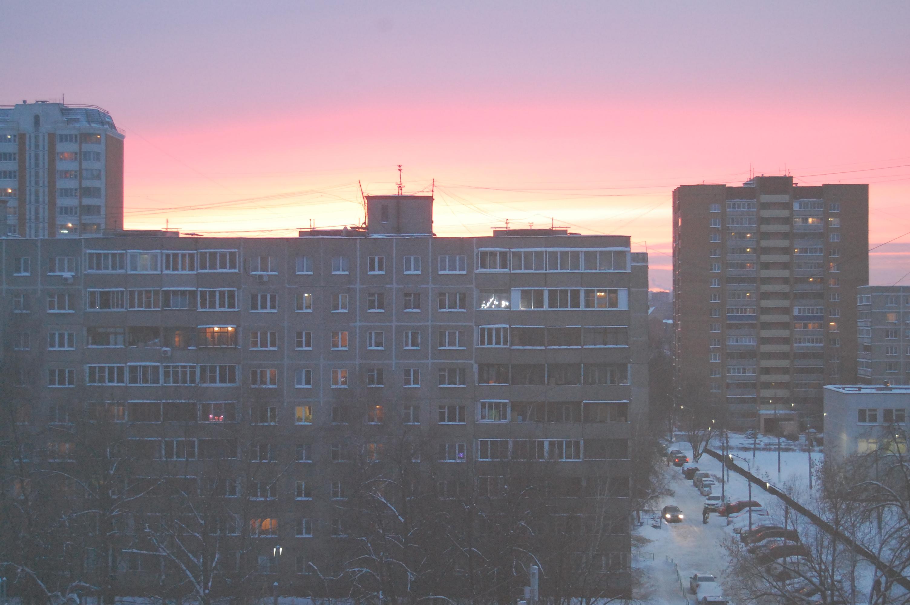 Закат в Подольске. Февраль 2016 г.