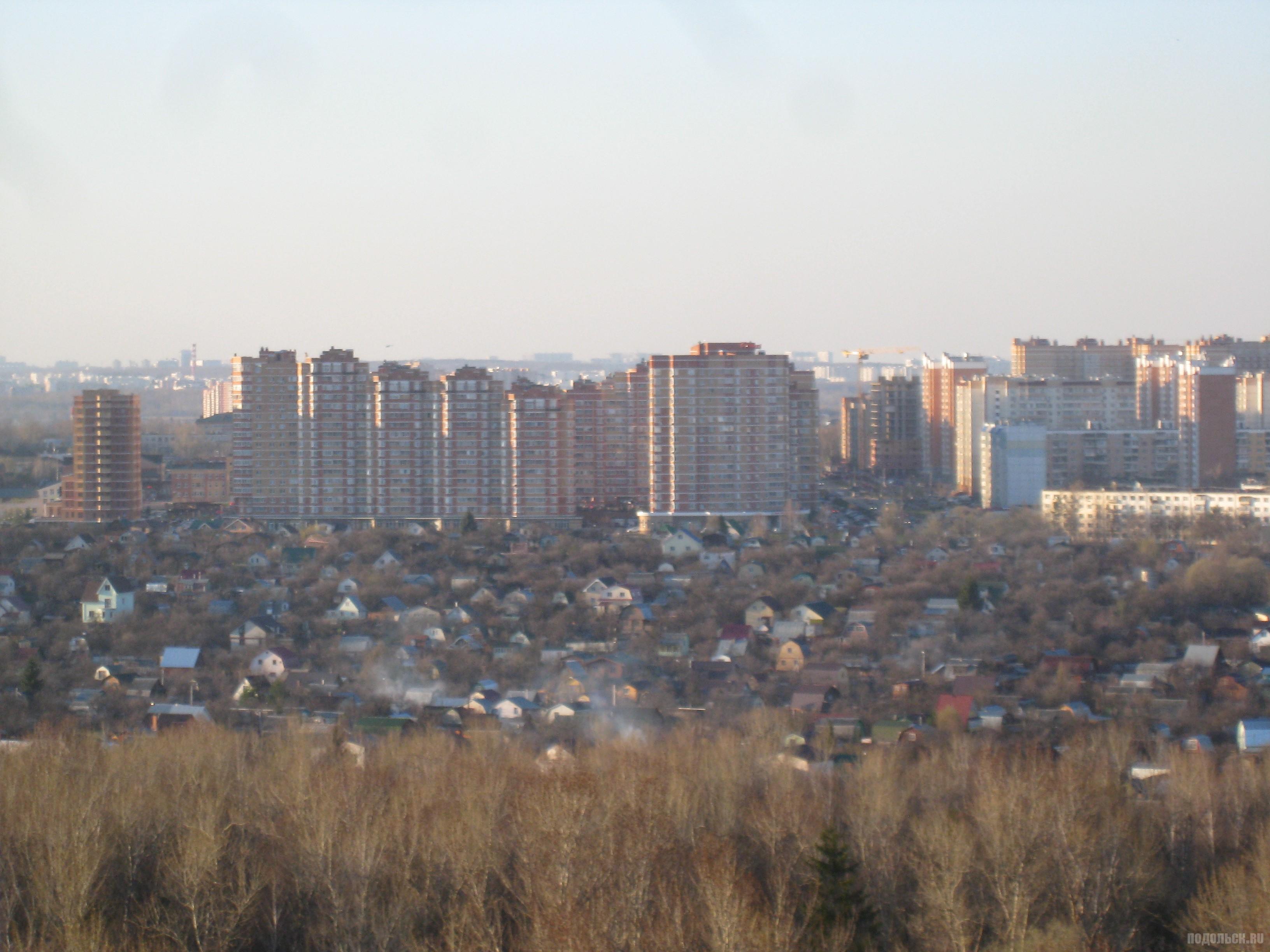 """Вид на СНТ """"Воговец"""" и Родники с Красной Горки. Апрель 2016."""