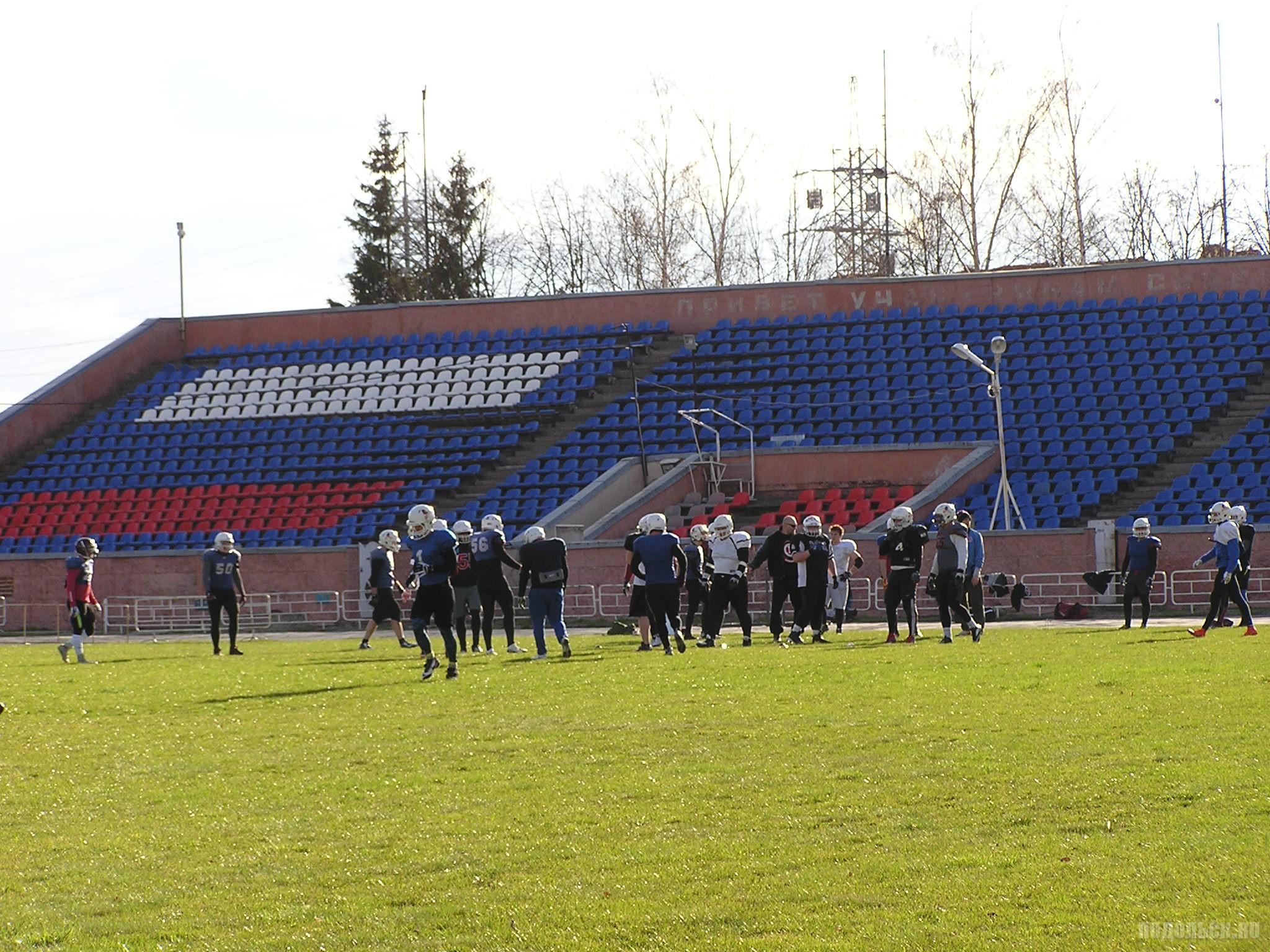 Тренировка по американскому футболу в Климовске. 23.04.16.