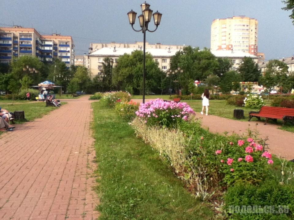 Детский парк Климовска. Заводская улица. 25 июля 2016 г.