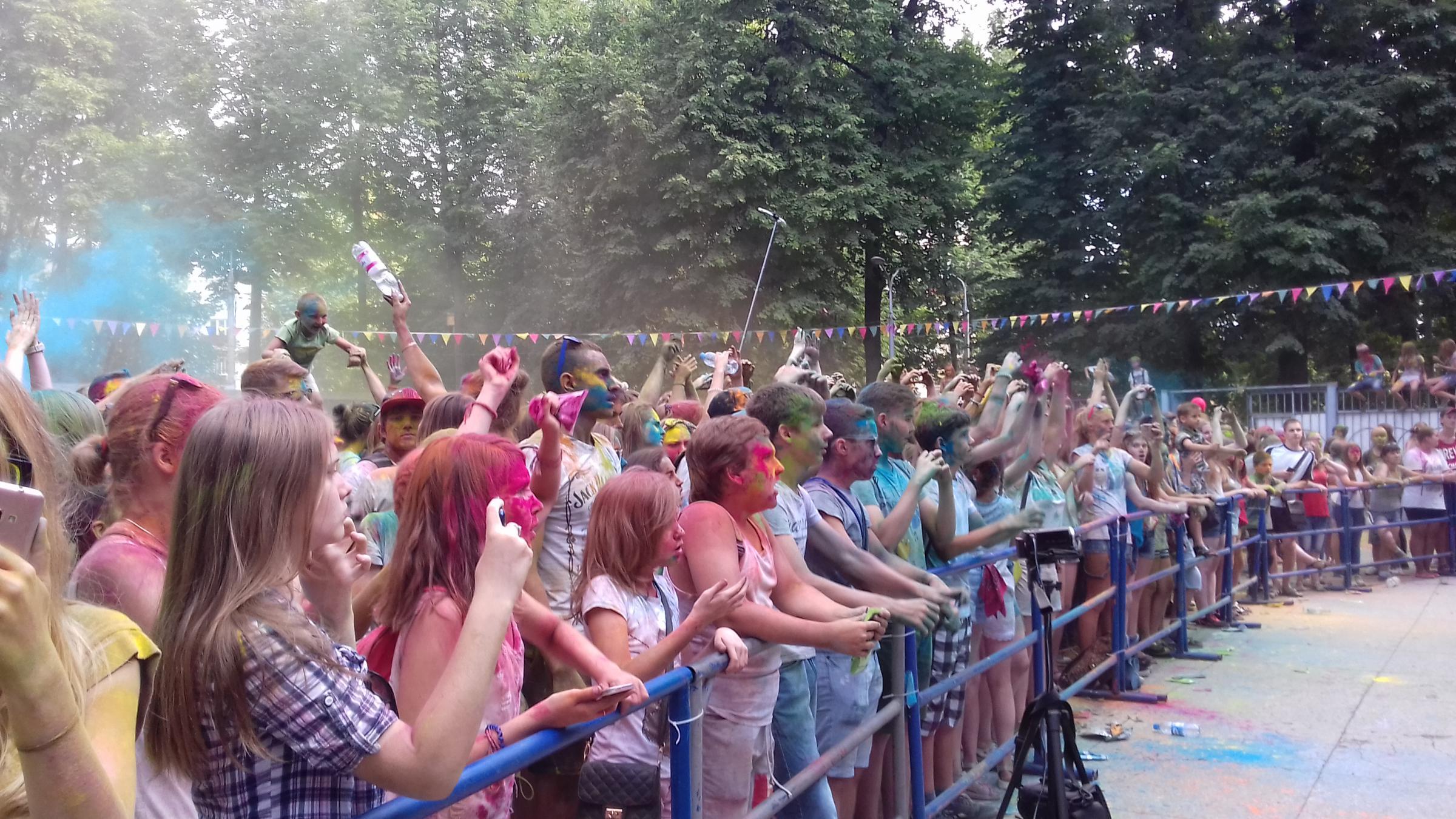 Фестиваль красок в Подольске