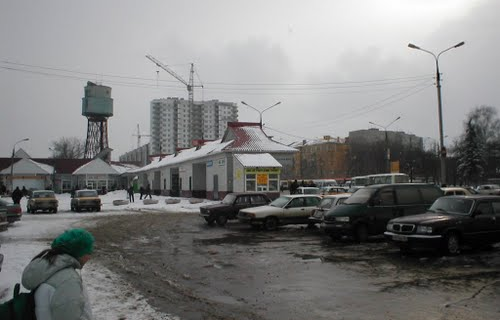 Водонапорная башня на станции.