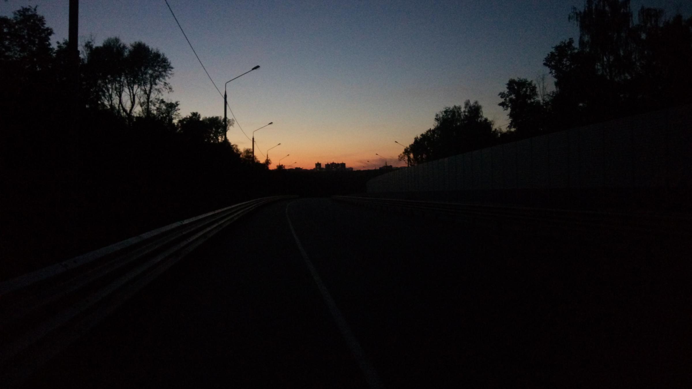 Южный Обход ночью