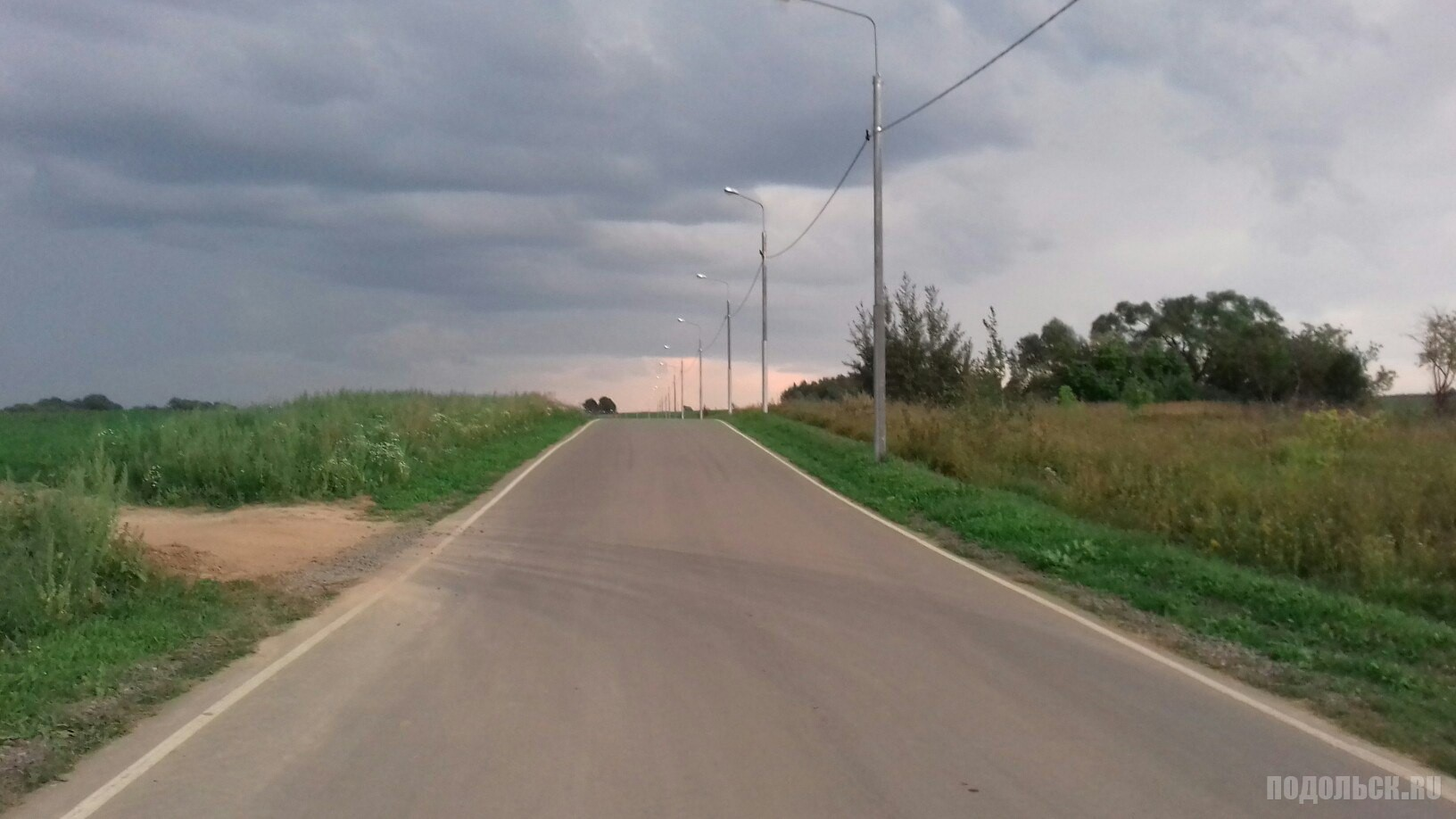 Дорога в районе Ознобишина. Август 2016.