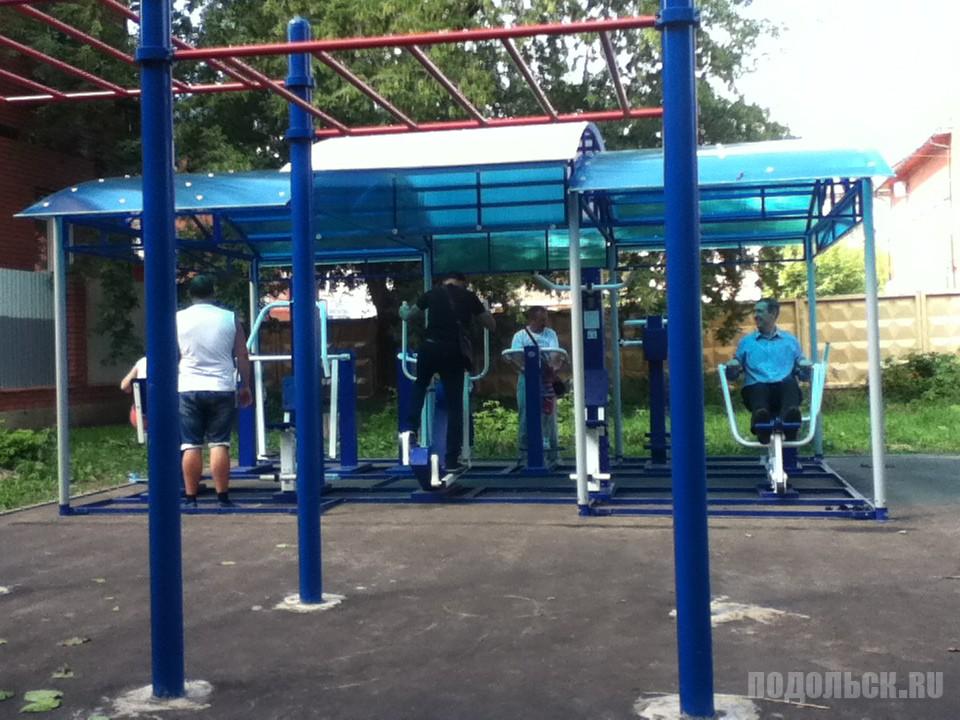 Новая тренажерная площадка в Климовске. Август 2016 г.