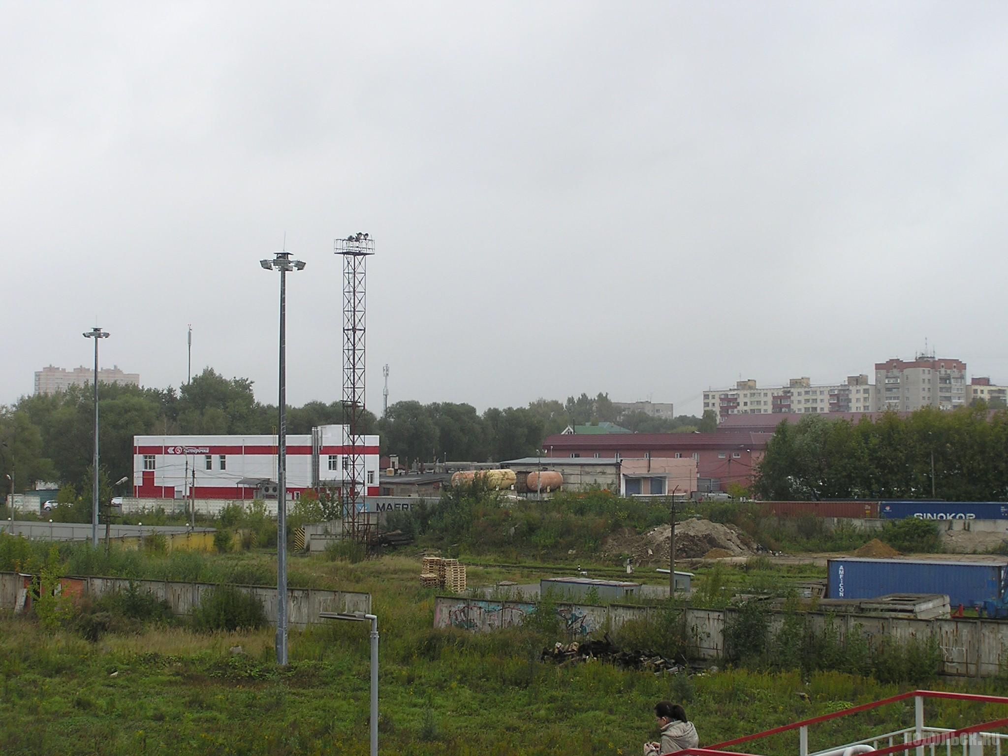 Вид на Силикатную с моста. Рязановское шоссе, 5. 18.09.16.