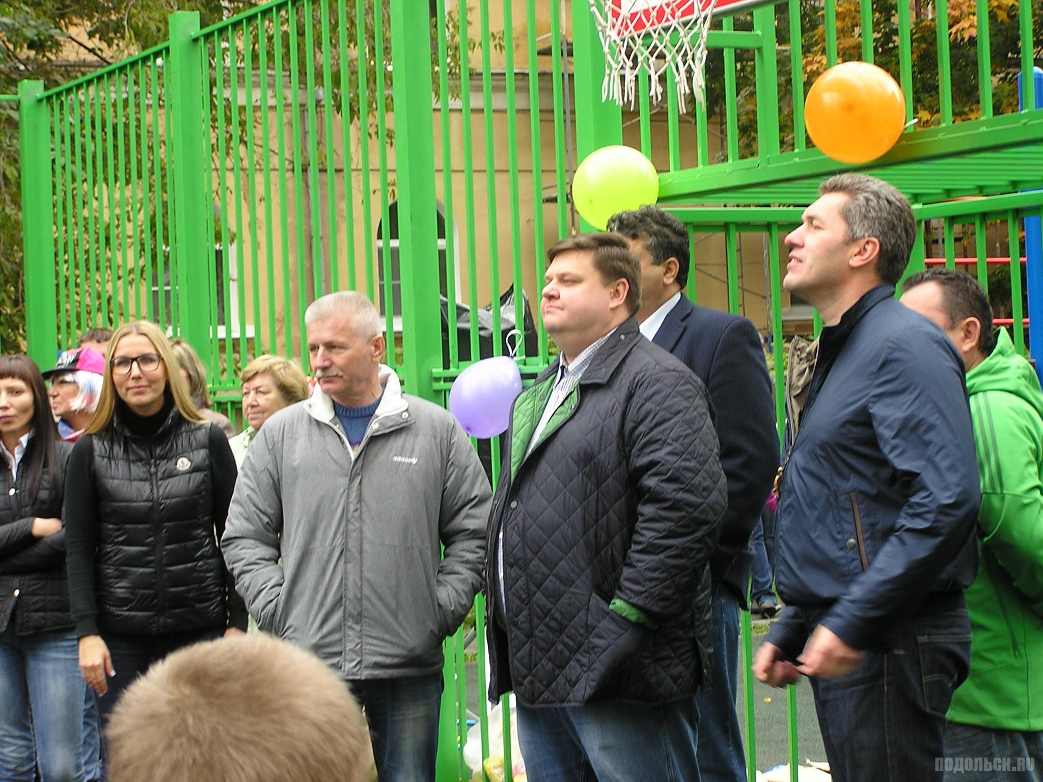 Глава Подольска Николай Пестов, Павл Максимович, Виктор Чуб.