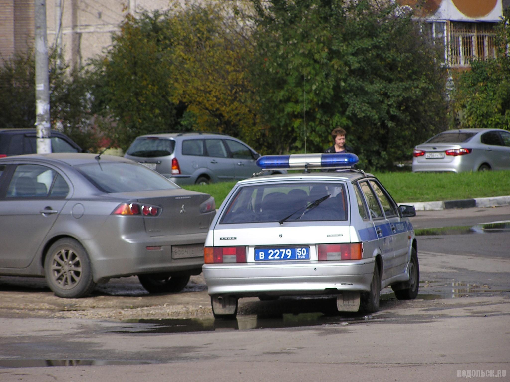 Машина полиции в Подольске. 2 октября 2016 г.
