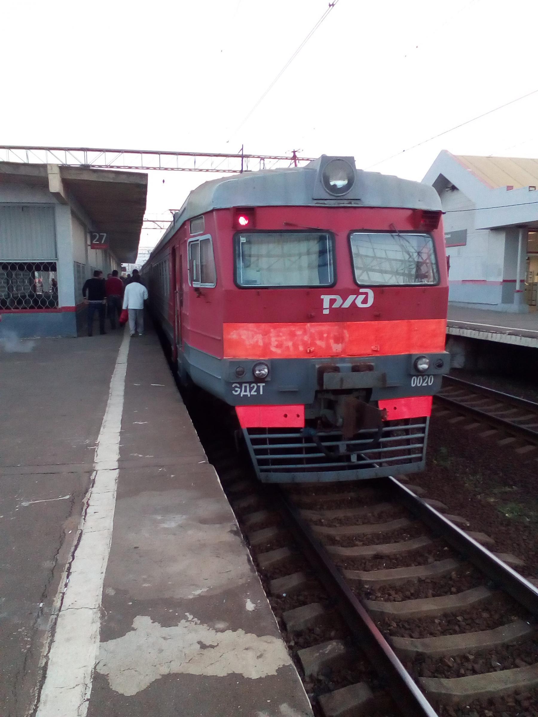 Электричка на станции Подольск