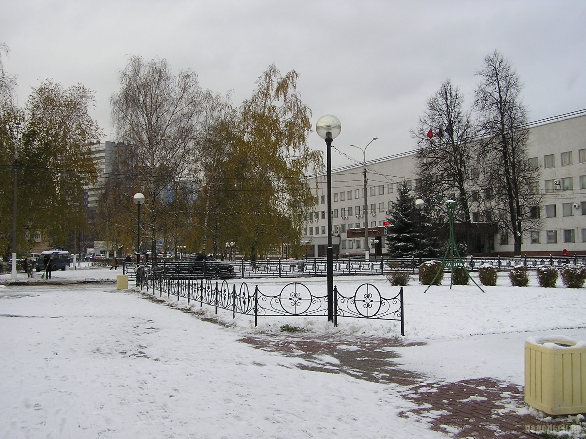 У администрации Подольска. 31 октября 2016 г.