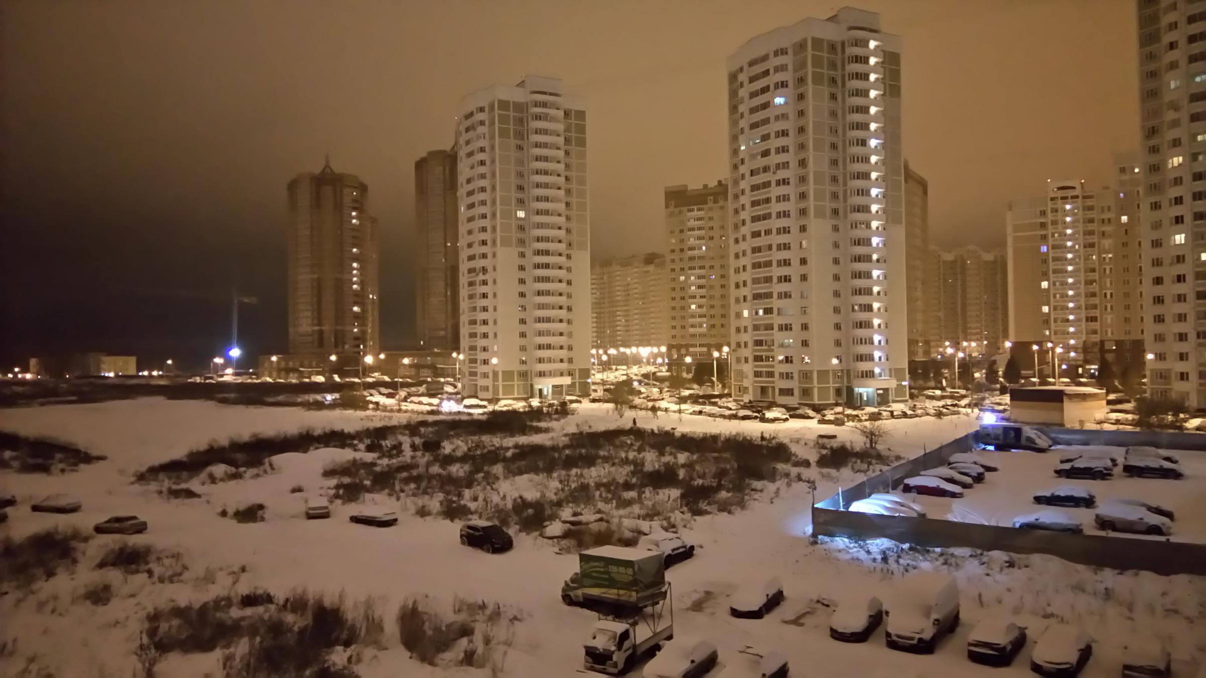 Зима, ночь.