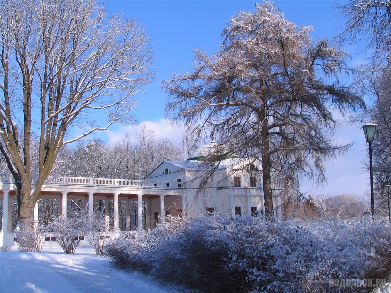Зима в усадьбе Остафьево