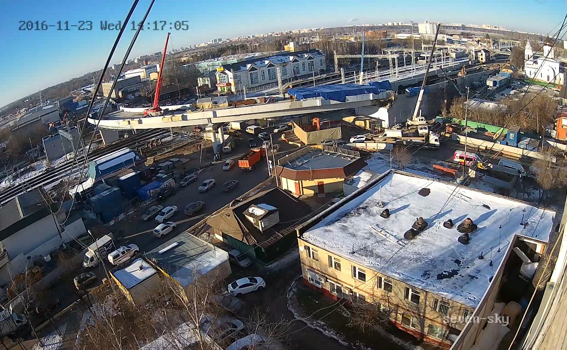 Строительство Щербинской эстакады. 23 ноября 2016 г.