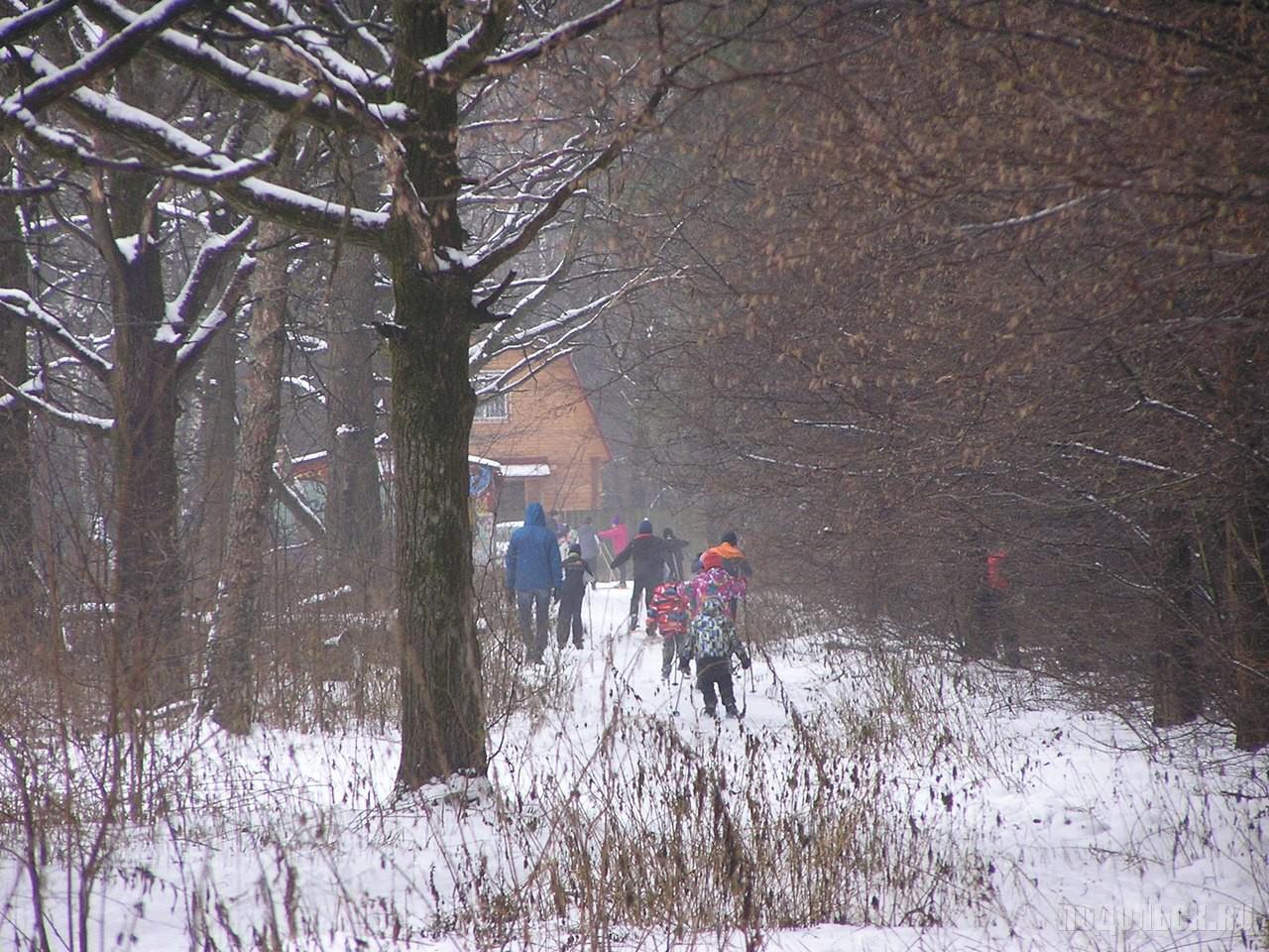 Лыжники на Весенней. 2015 г.