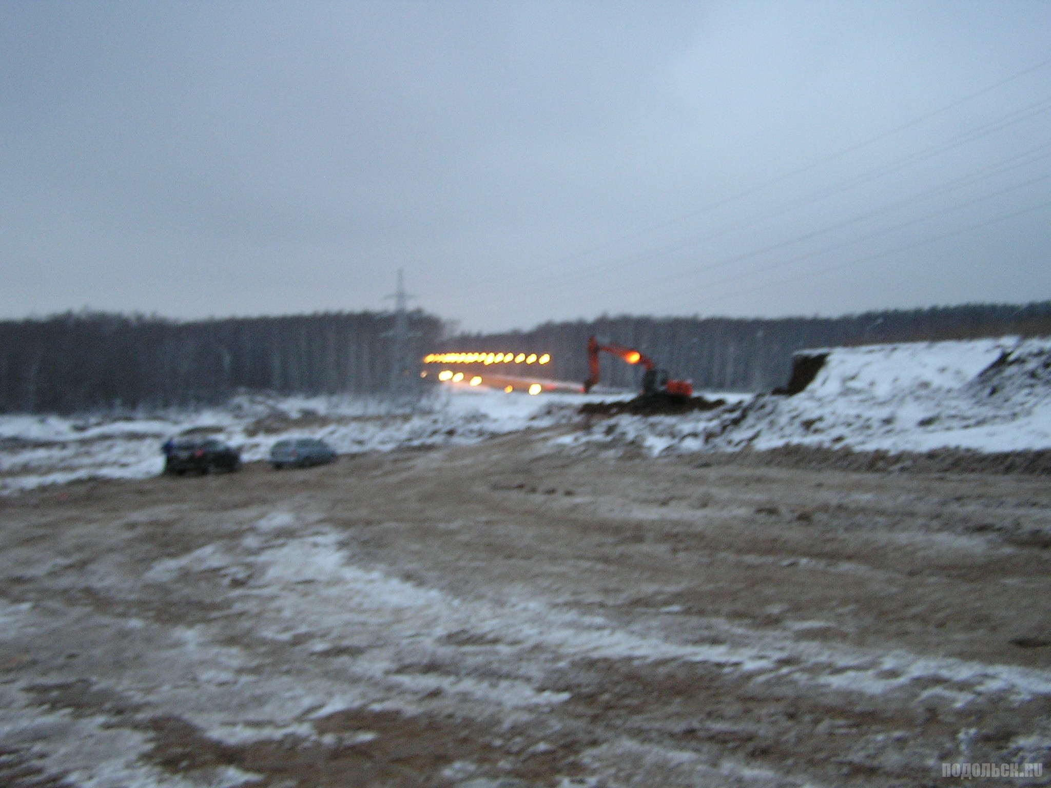 Вид на ЮО с поля в Сергеевке. 3 декабря 2016 г.