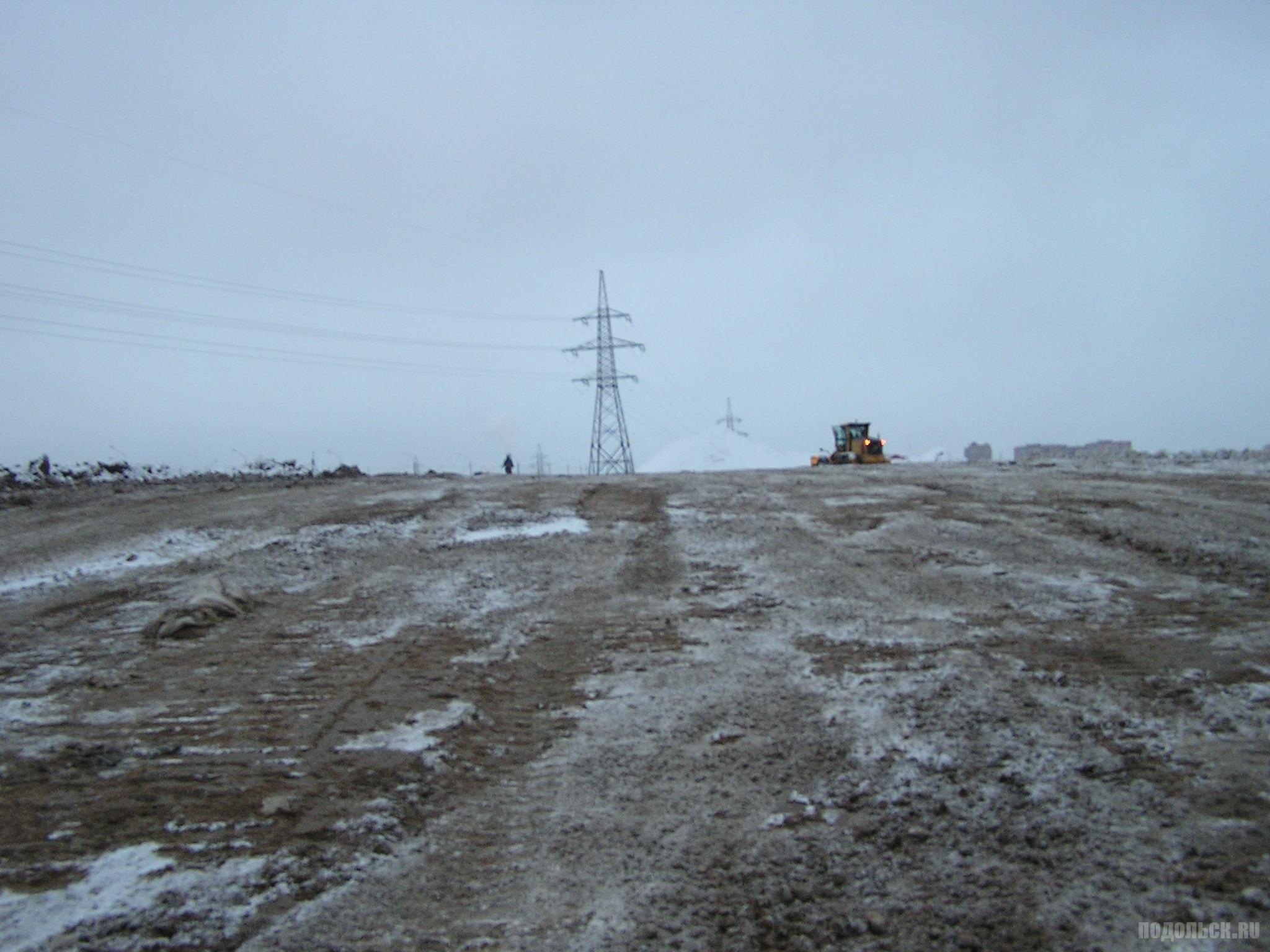 Вид на поле в Сергеевке. 3 декабря 2016 г.