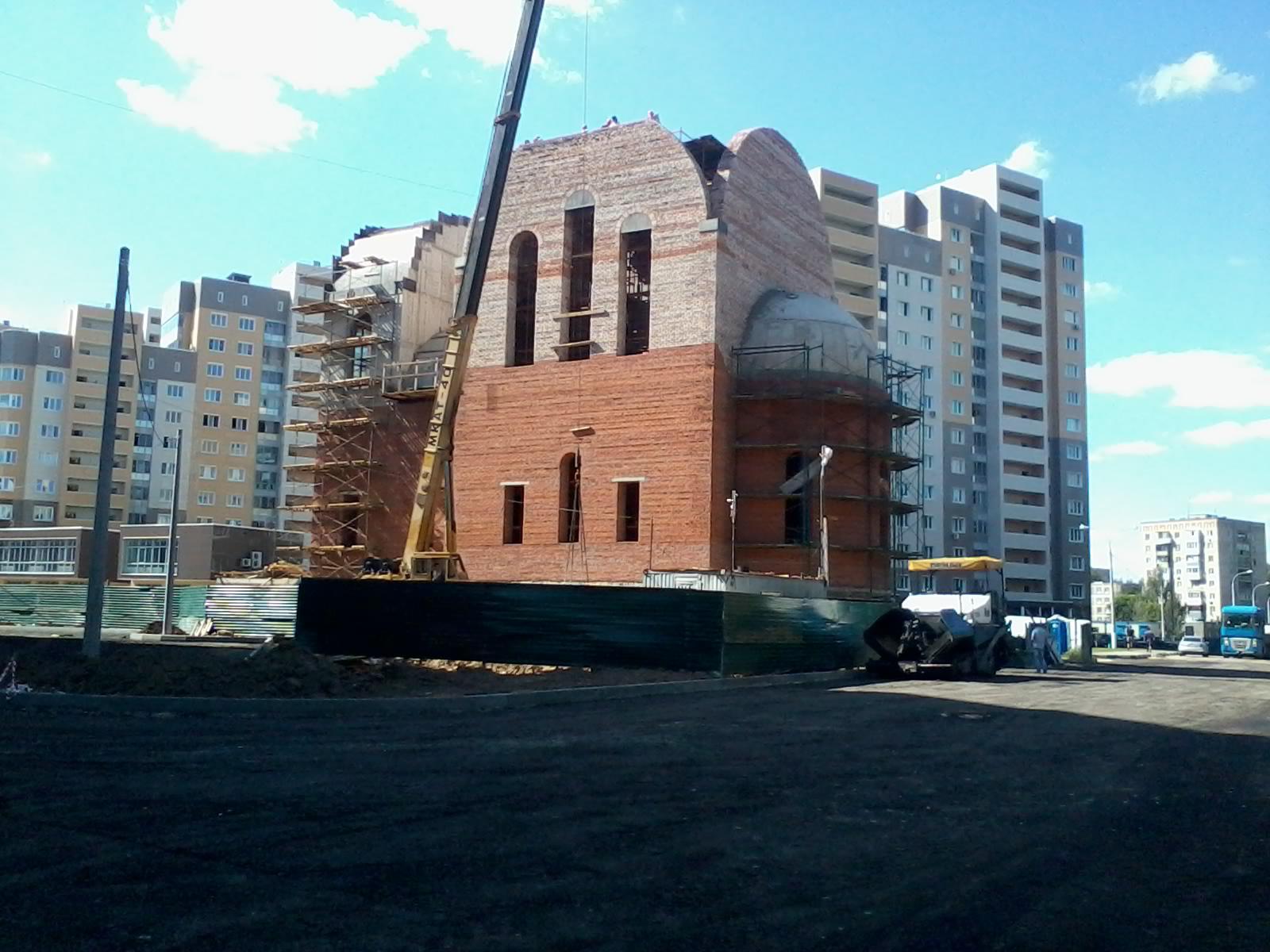 """Строительство храма в ЖК """"Бородино"""". 2016."""