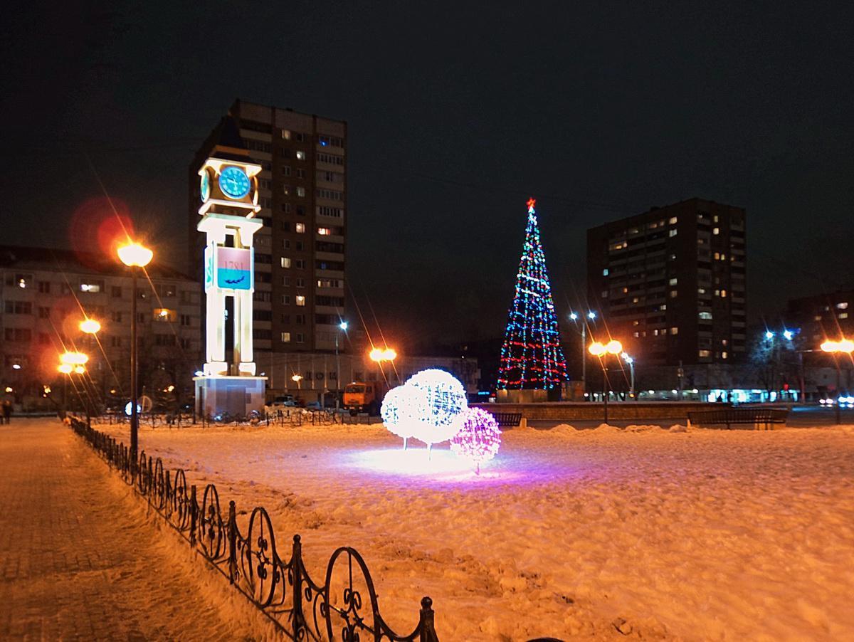 Сквер Поколений в новогоднем убранстве Подольск, 22.12.2016 г.