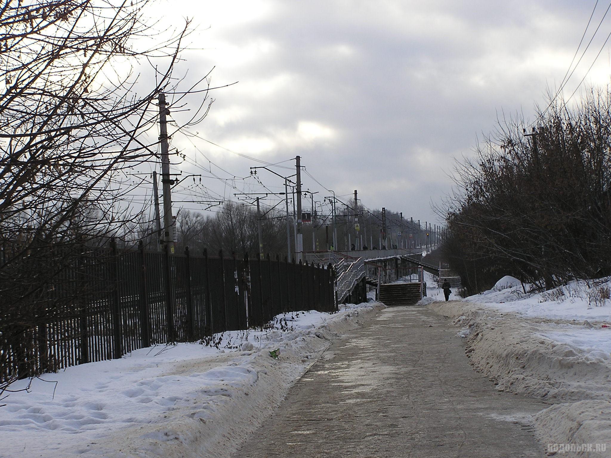 Платформа Кутузовская. Декабрь 2016 г.