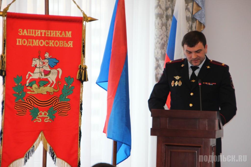 Начальник УМВД  С. В. Боллоев. Январь 2017.