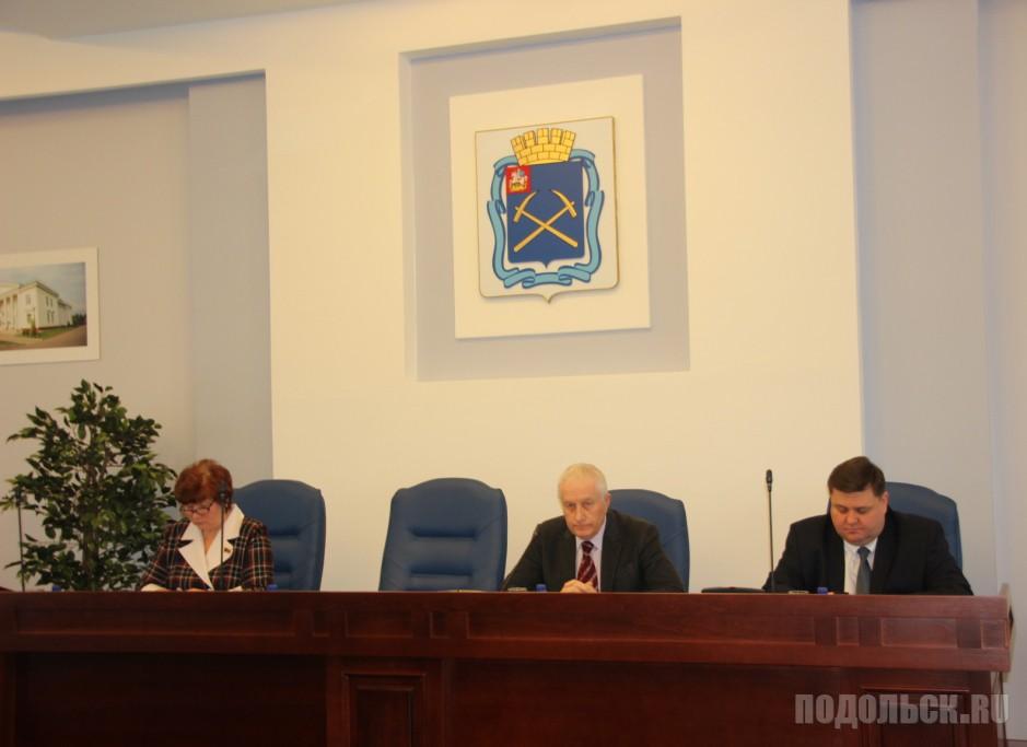 Председатель Совета депутатов Москалев и глава округа Пестов. Январь 2017.