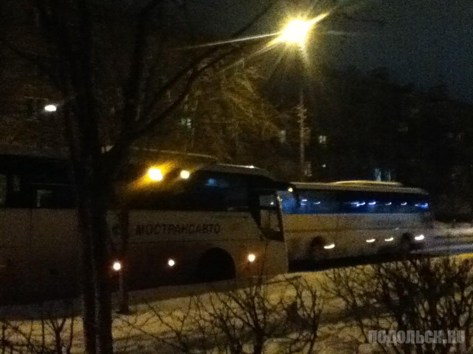 Автобусы на Москву в Климовске. 31.01.2017.