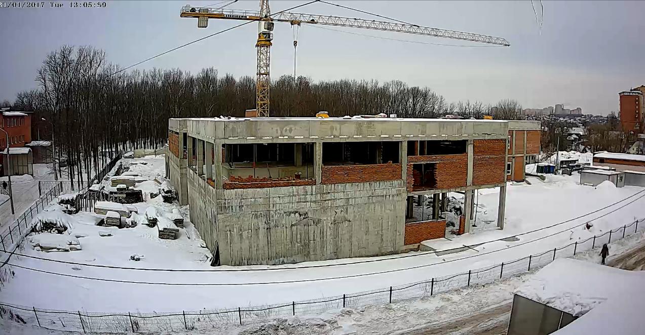 Строительство онкоцентра в Подольске. 31.01.2017.