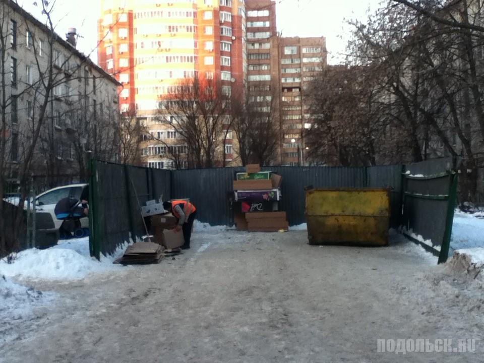 Раздельный сбор мусора в Климовске. Февраль 2017.