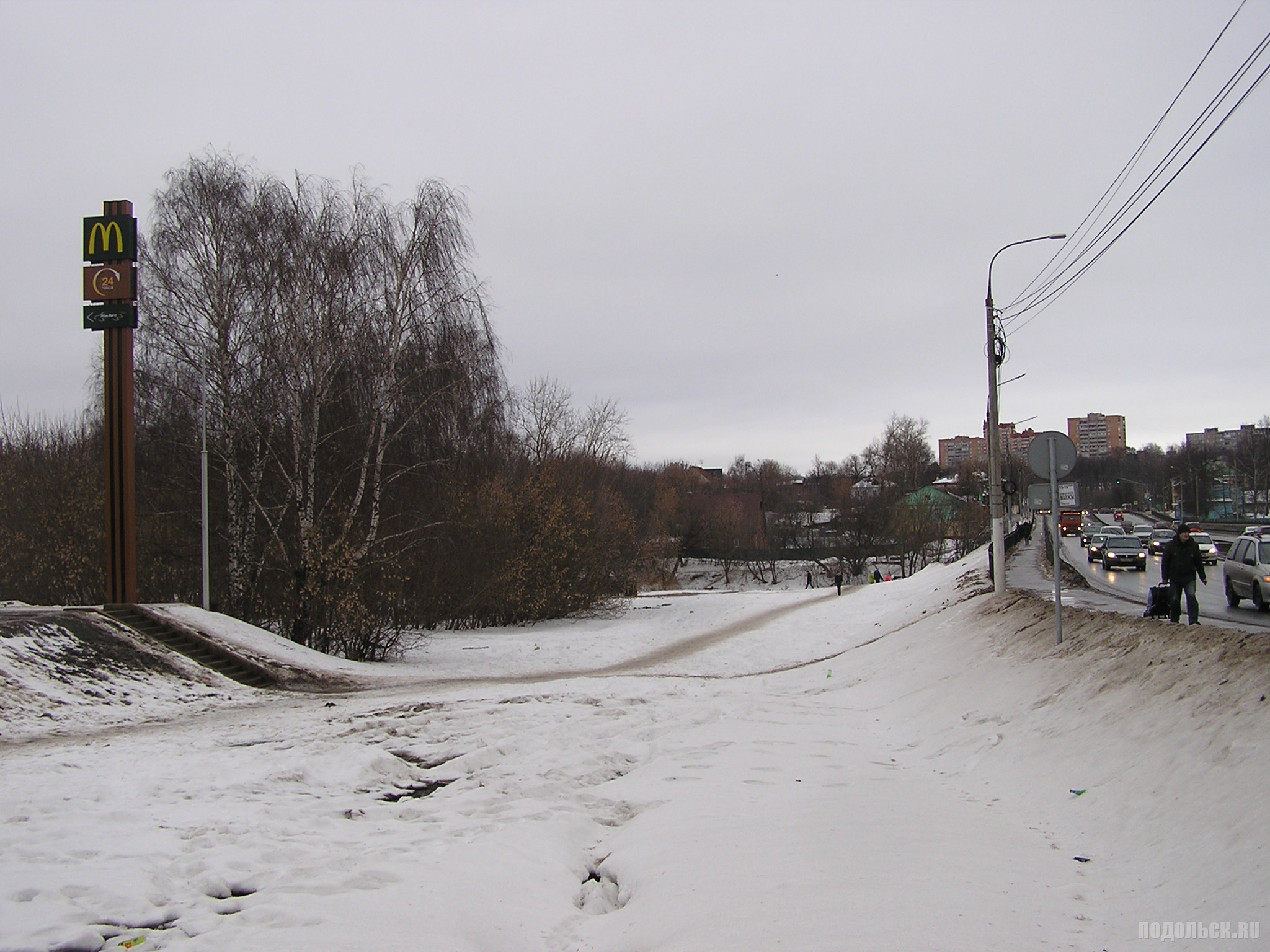 "Проспект Ленина у ""Макдоналдса"". 18.02.2017."