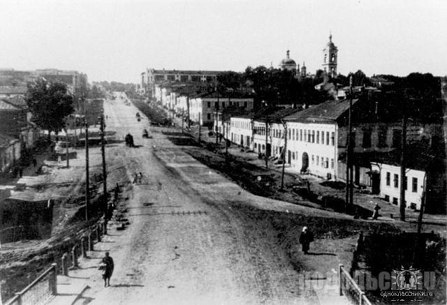 Проспект Кагановича (ныне проспект Ленина).