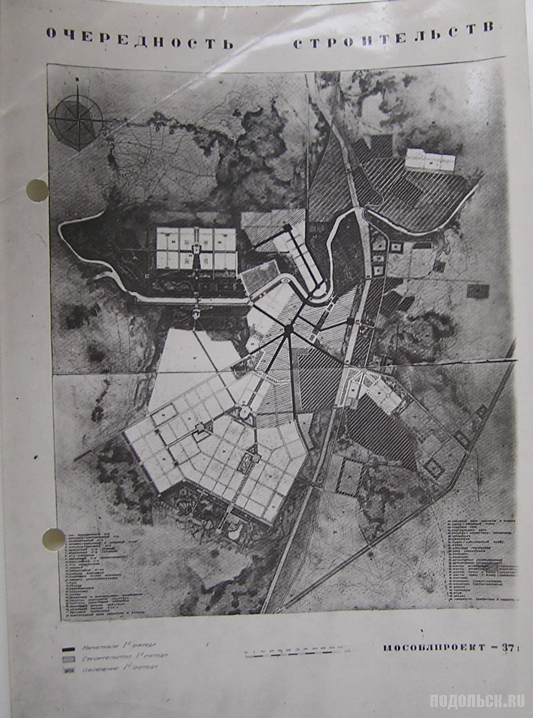 Очередность строительства в Подольске. 1937 г.